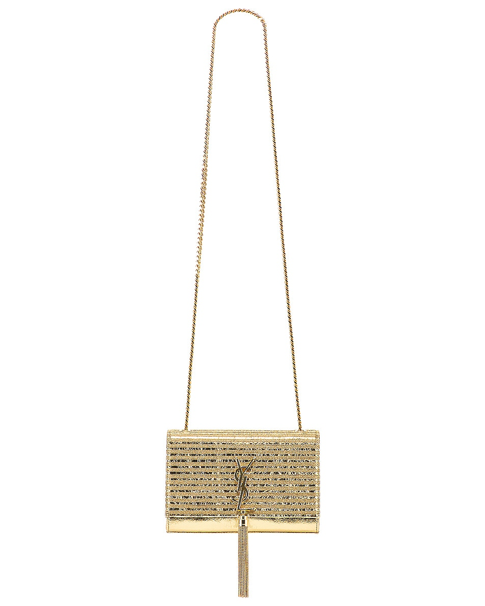 Image 6 of Saint Laurent Small Kate Chain Tassel Bag in Gold