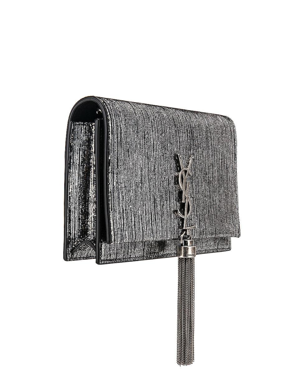 Image 4 of Saint Laurent Monogramme Kate Chain Tassel Wallet Bag in Black