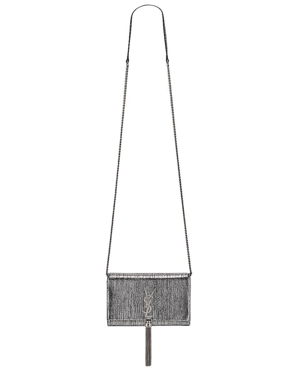 Image 6 of Saint Laurent Monogramme Kate Chain Tassel Wallet Bag in Black