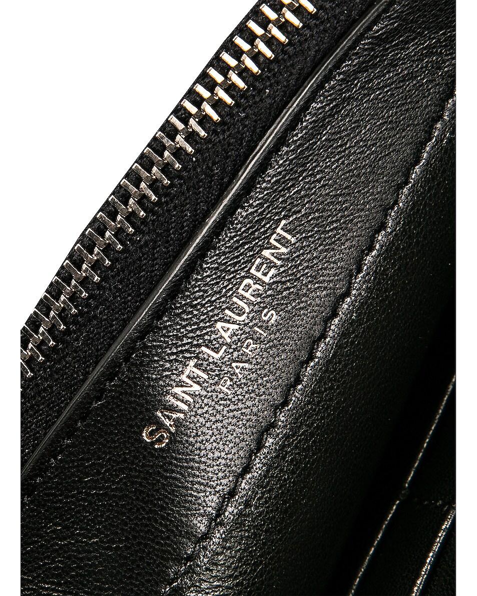 Image 7 of Saint Laurent Monogramme Kate Chain Tassel Wallet Bag in Black
