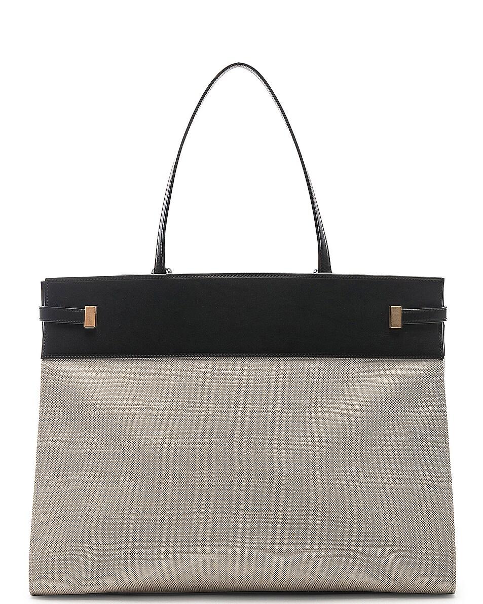 Image 3 of Saint Laurent Medium Manhattan Bag in Black