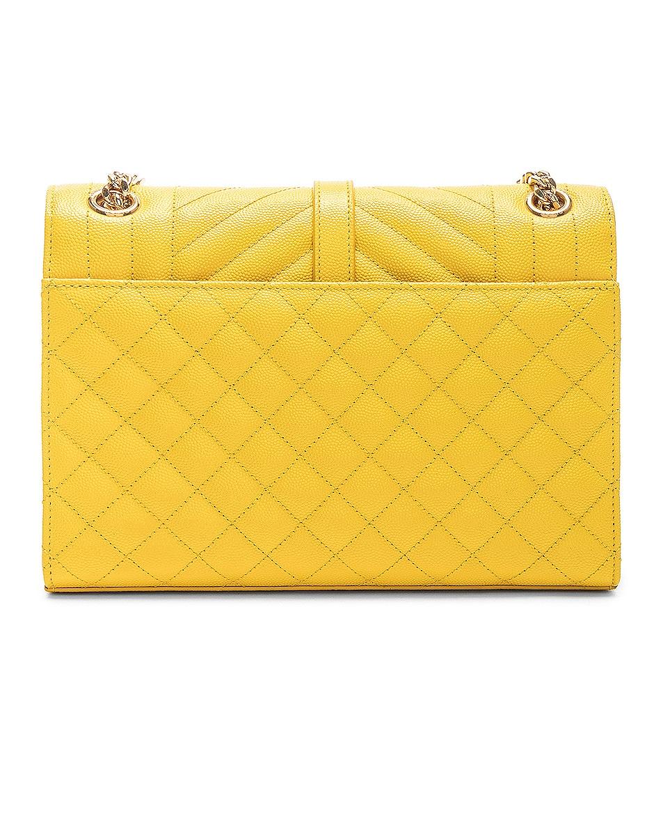 Image 2 of Saint Laurent Envelope Medium Shoulder Bag in Mimosa