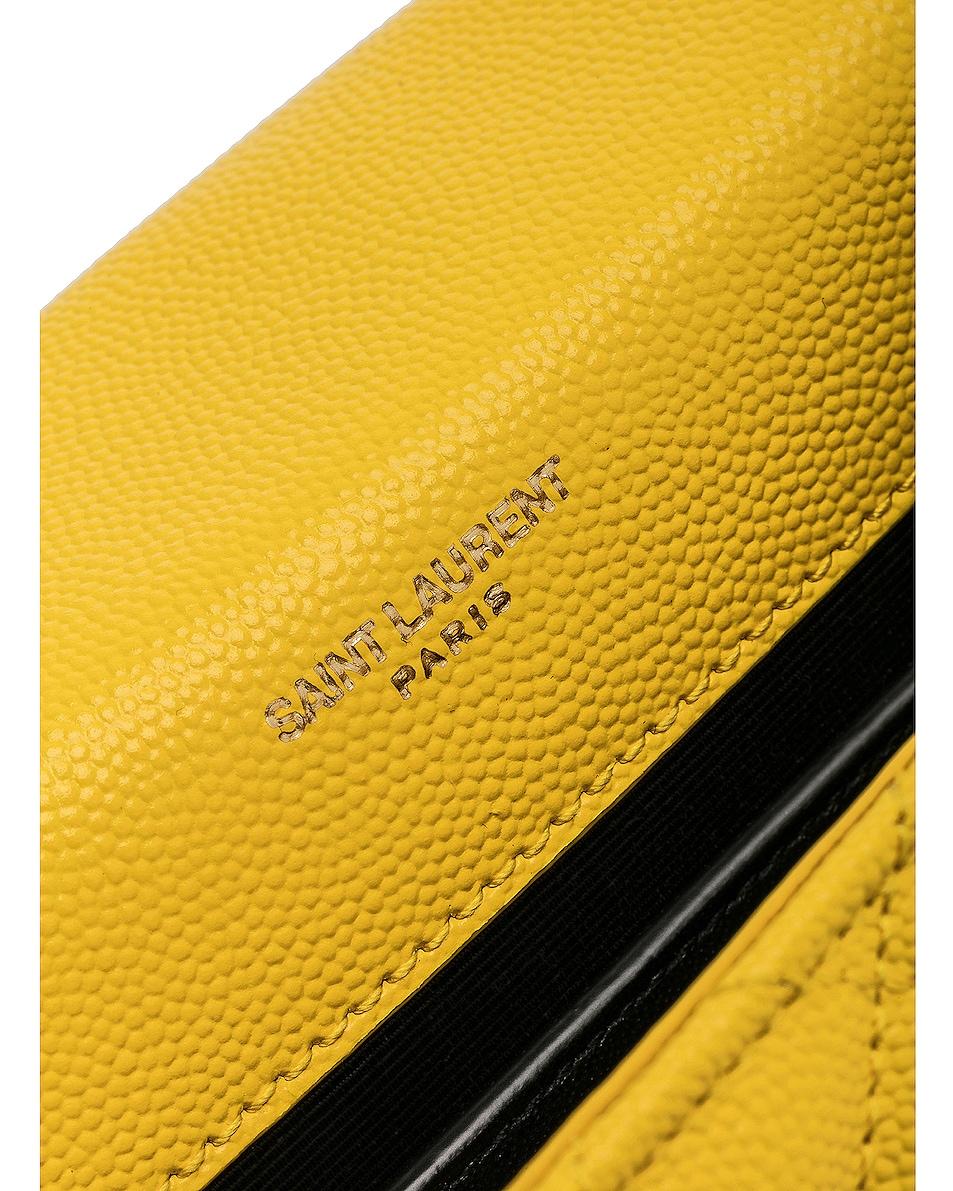 Image 6 of Saint Laurent Envelope Medium Shoulder Bag in Mimosa