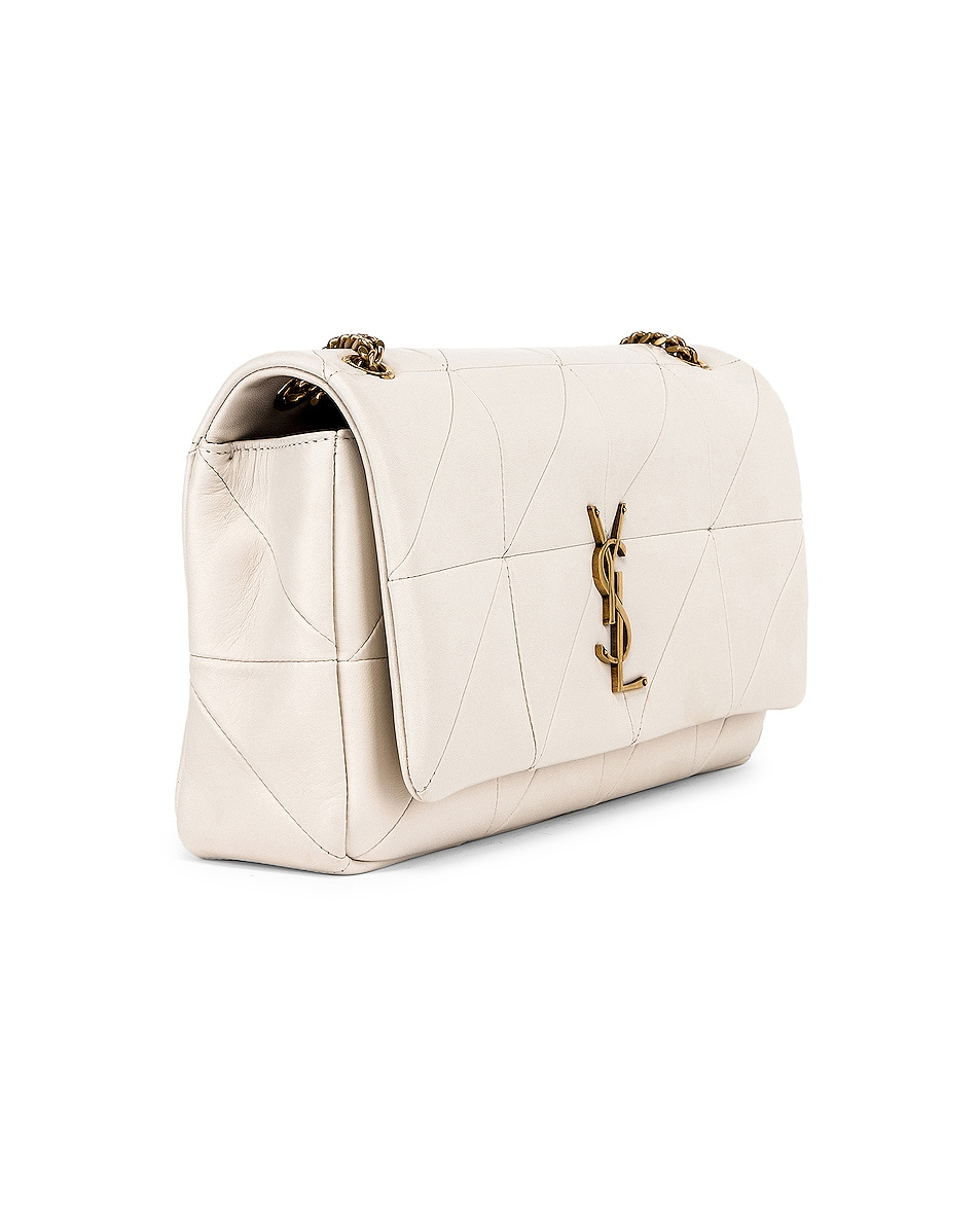 Image 4 of Saint Laurent Medium Monogramme Jamie Chain Bag in Crema Soft