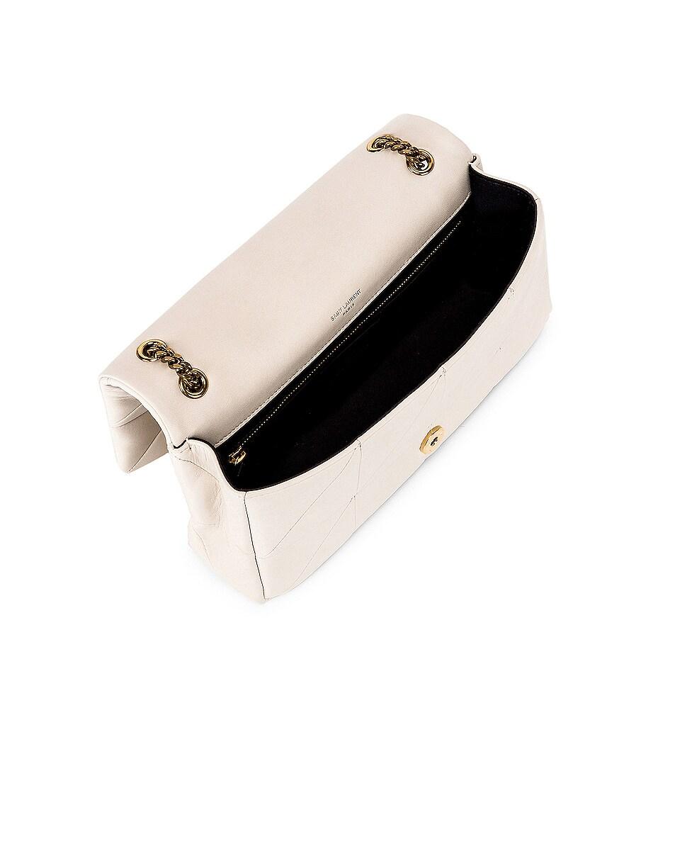 Image 5 of Saint Laurent Medium Monogramme Jamie Chain Bag in Crema Soft
