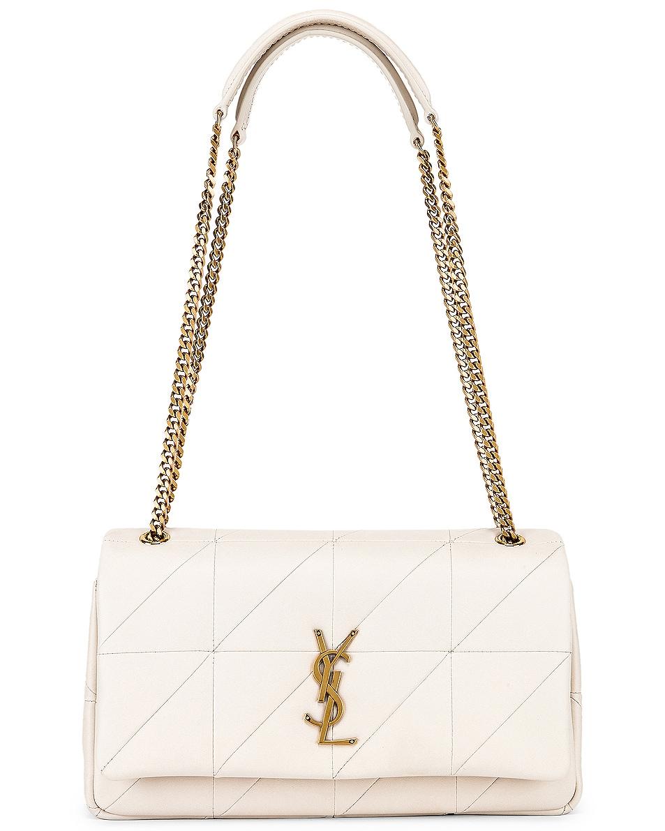 Image 6 of Saint Laurent Medium Monogramme Jamie Chain Bag in Crema Soft