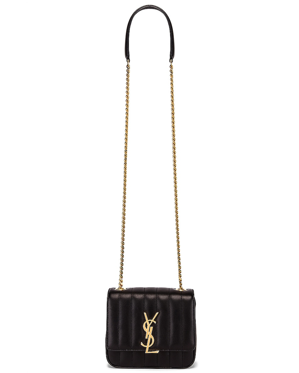 Image 6 of Saint Laurent Monogramme Vicky Shoulder Bag in Black