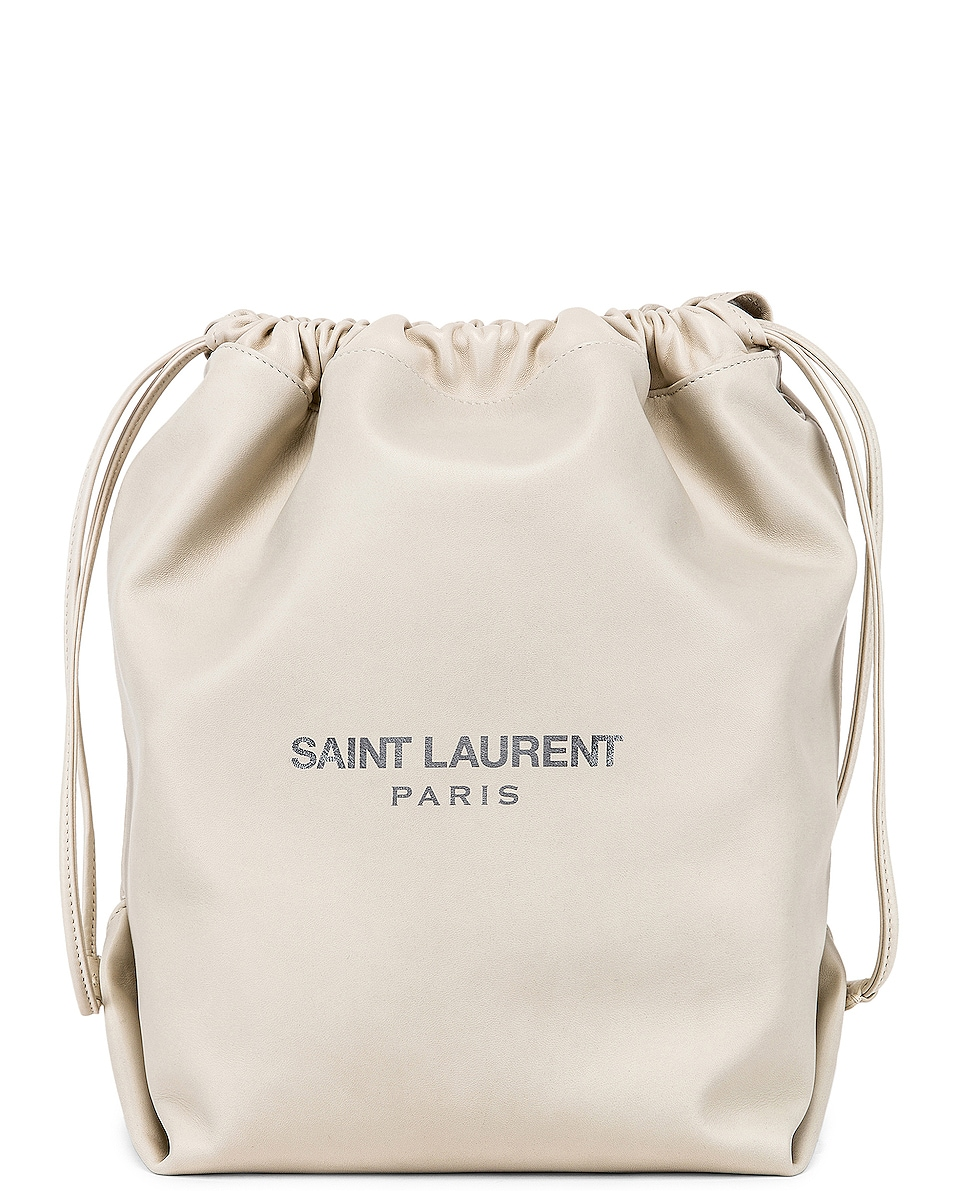 Image 1 of Saint Laurent Teddy Pouch Bag in Blanc Vintage