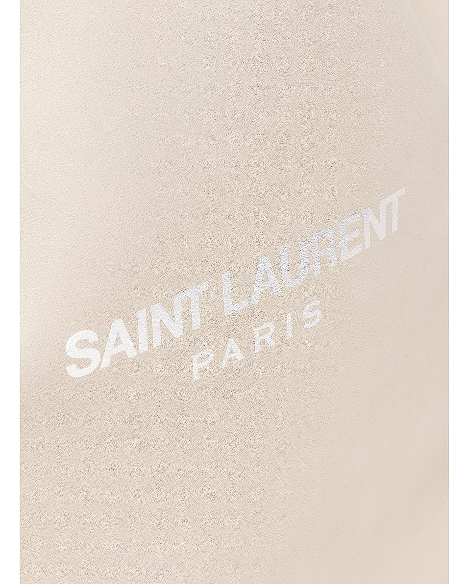 Image 7 of Saint Laurent Teddy Pouch Bag in Blanc Vintage