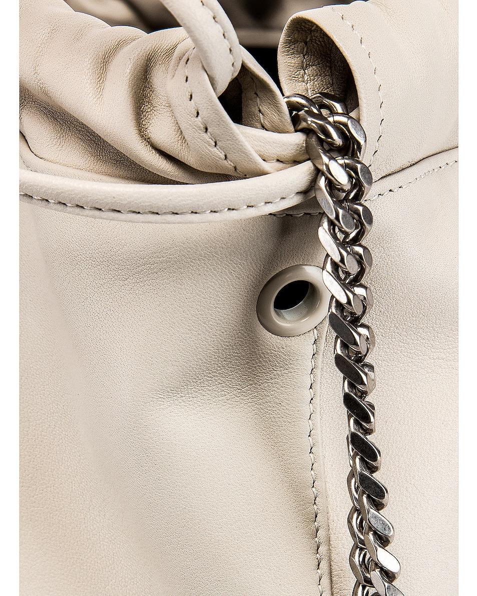 Image 8 of Saint Laurent Teddy Pouch Bag in Blanc Vintage