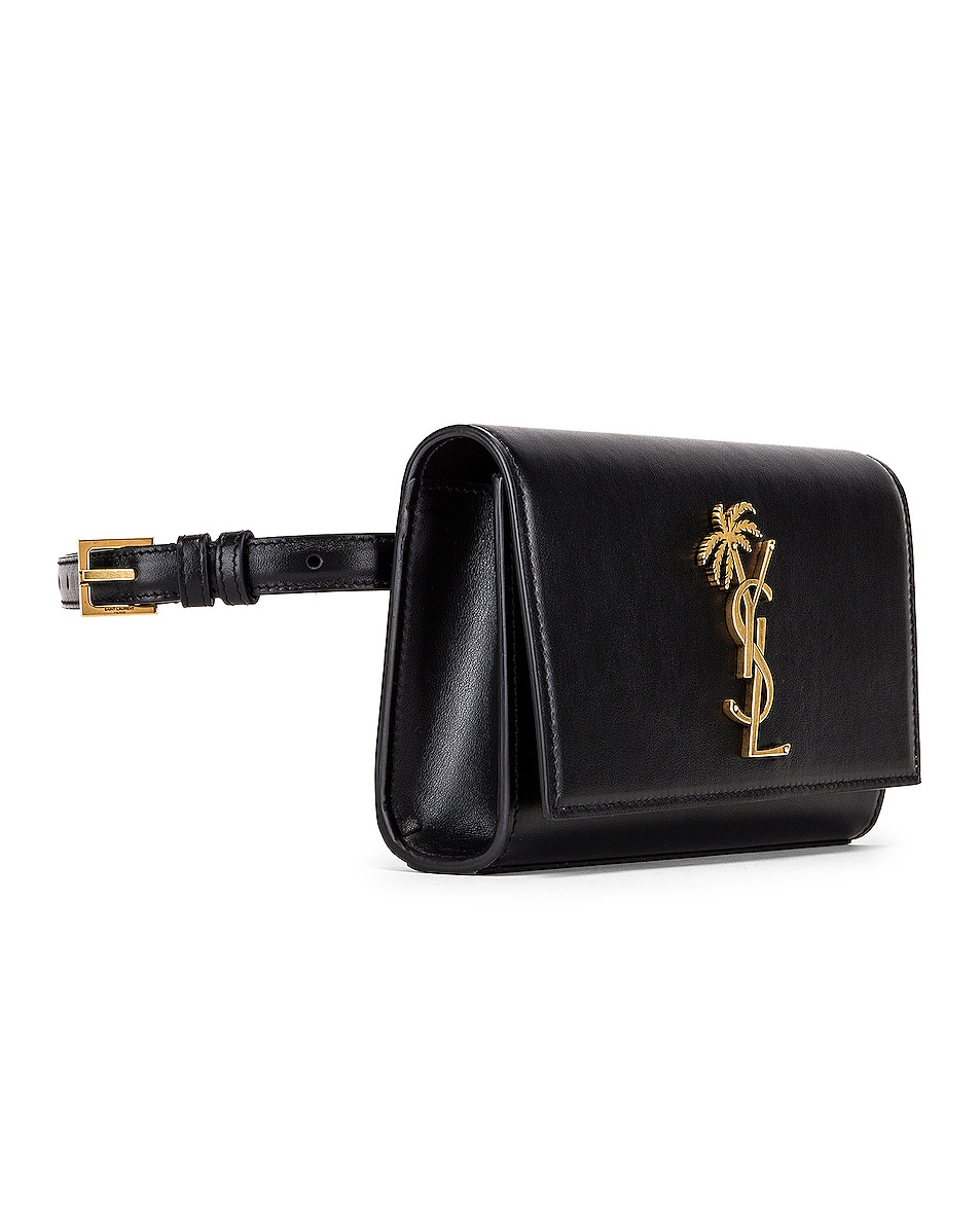 Image 4 of Saint Laurent Kate Belt Bag in Black