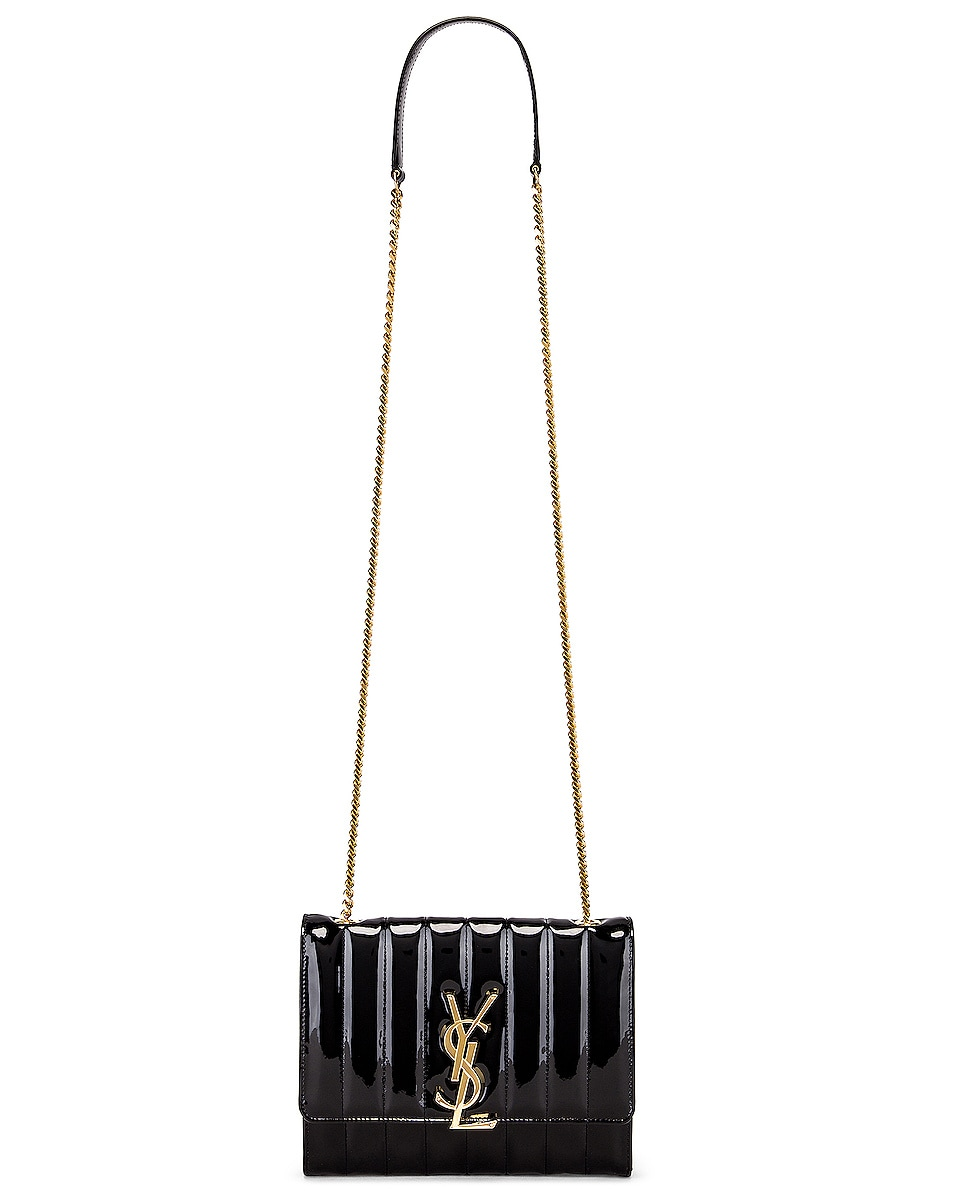 Image 6 of Saint Laurent Vicky Chain Bag in Black
