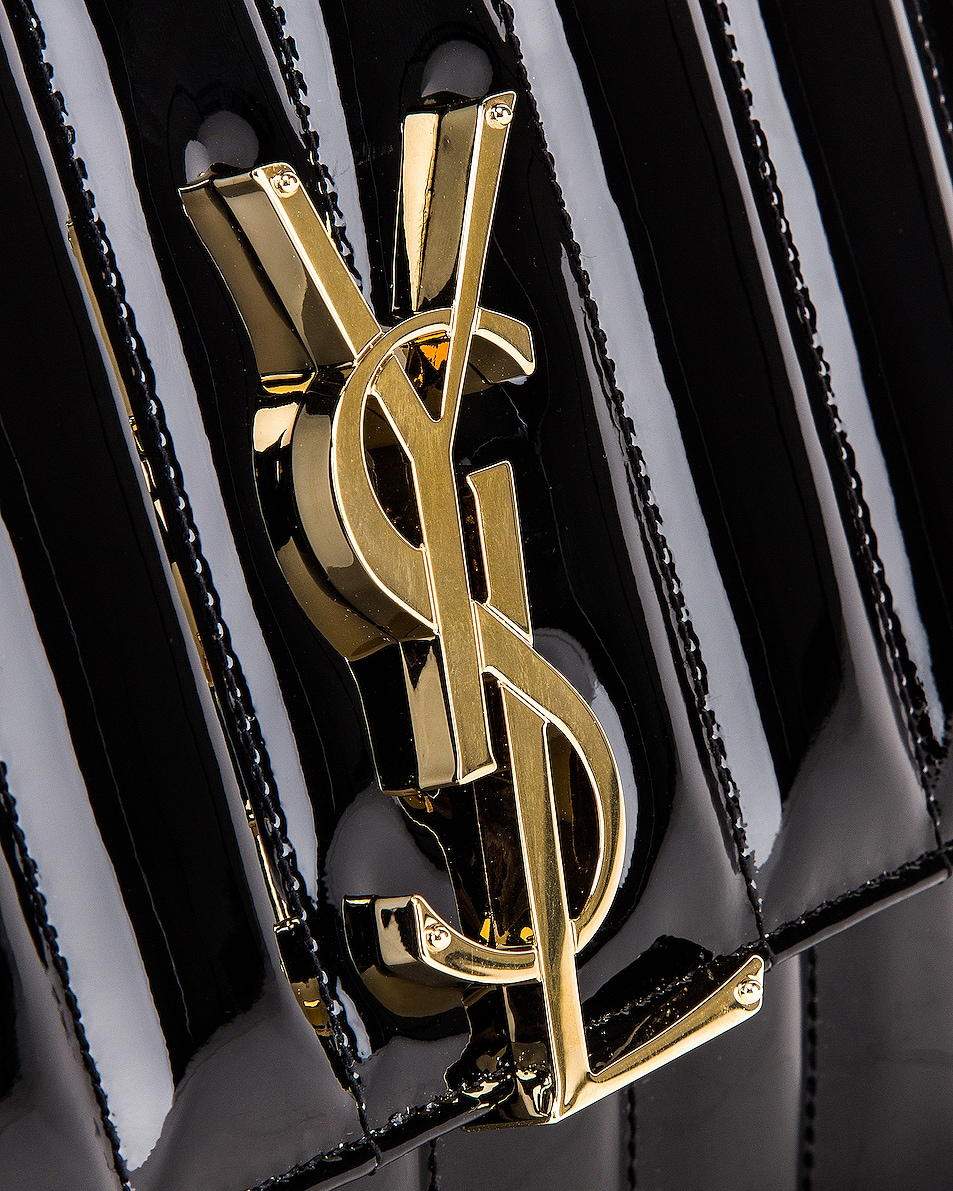 Image 7 of Saint Laurent Vicky Chain Bag in Black