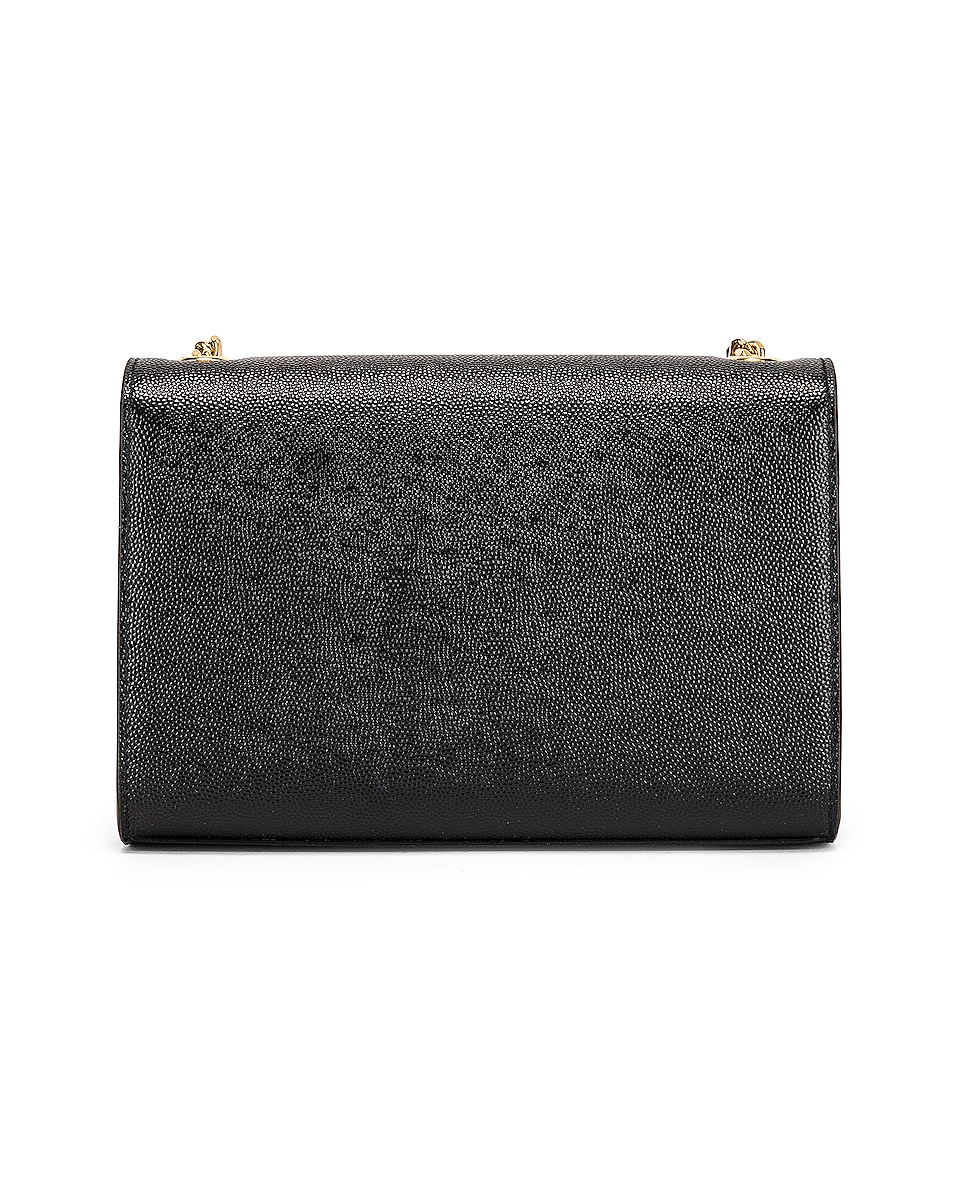 Image 3 of Saint Laurent Small Kate Monogramme Chain Bag in Black