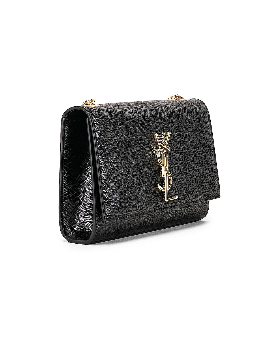 Image 4 of Saint Laurent Small Kate Monogramme Chain Bag in Black