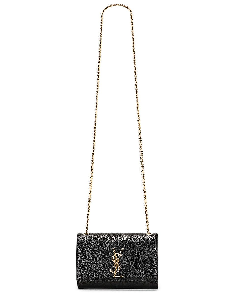 Image 6 of Saint Laurent Small Kate Monogramme Chain Bag in Black