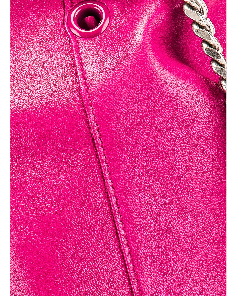 Image 8 of Saint Laurent Supple Logo Teddy Pouch in Rose Freesia