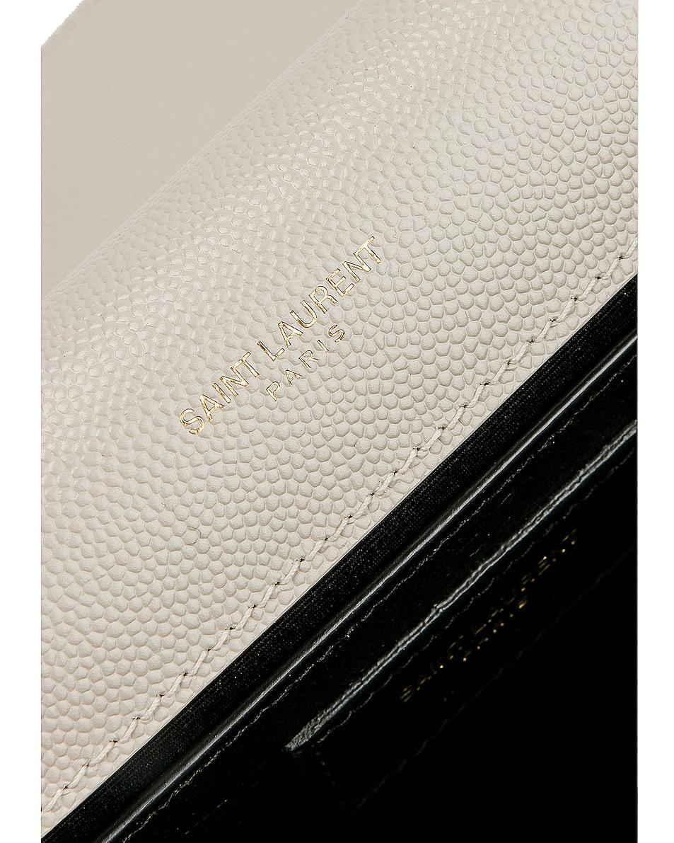 Image 7 of Saint Laurent Kate Clutch in Blanc Vintage