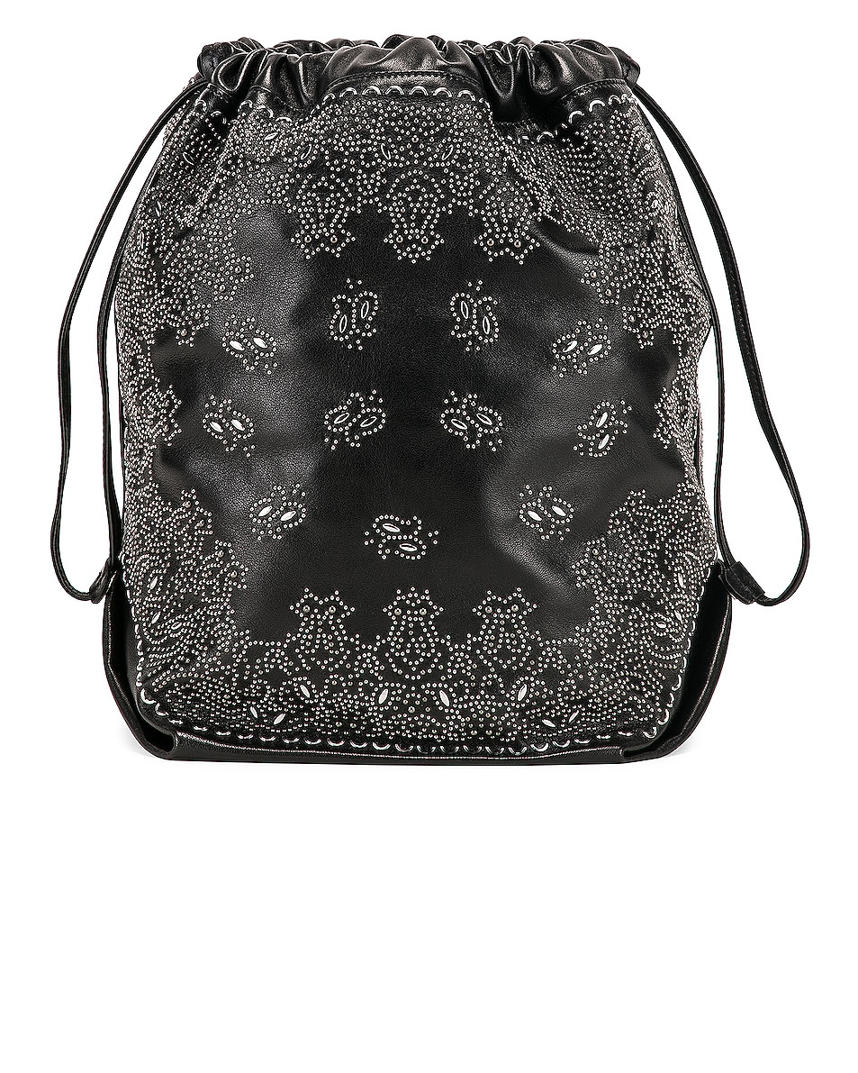 Image 3 of Saint Laurent Bandana Pouch Bag in Black