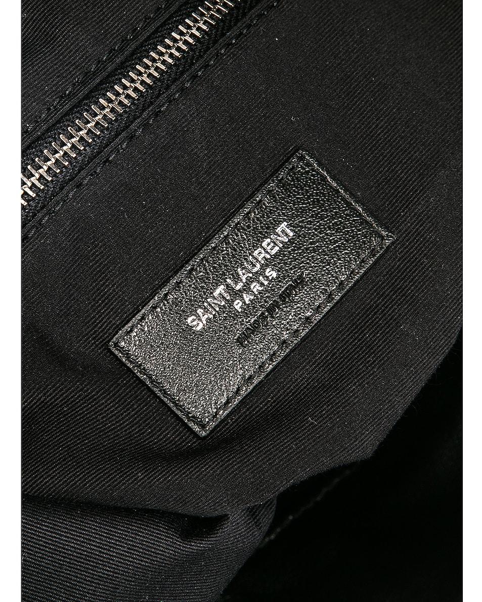 Image 7 of Saint Laurent Bandana Pouch Bag in Black