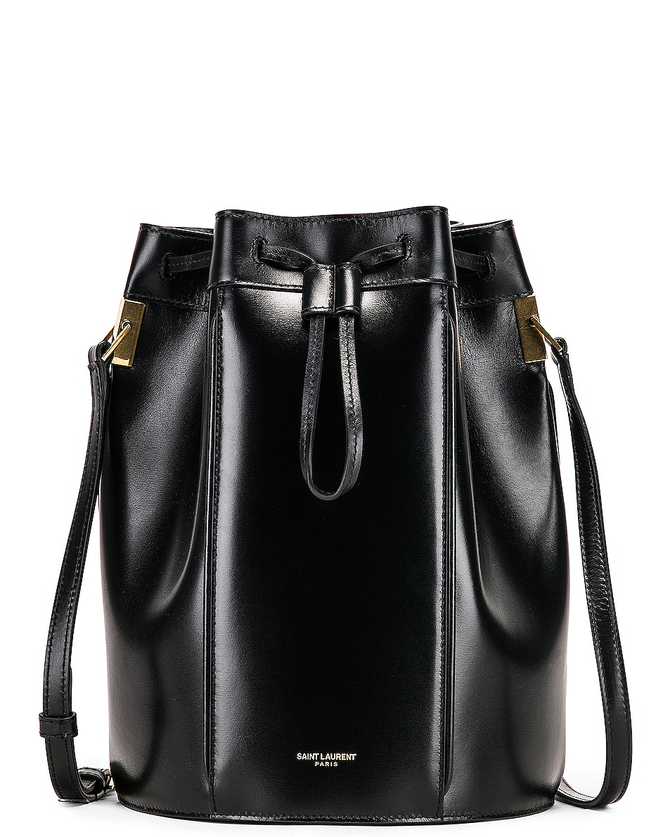 Image 1 of Saint Laurent Medium Talitha Pouch Bag in Black