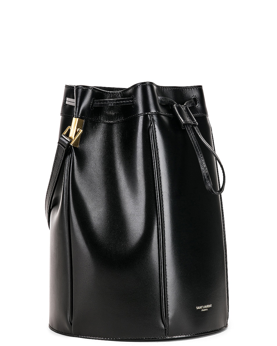 Image 4 of Saint Laurent Medium Talitha Pouch Bag in Black
