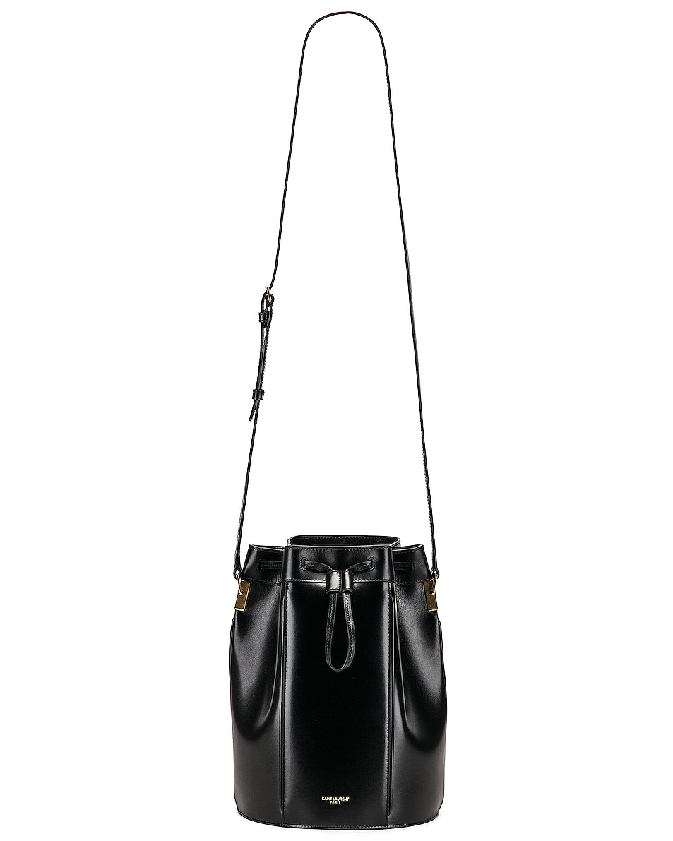Image 6 of Saint Laurent Medium Talitha Pouch Bag in Black