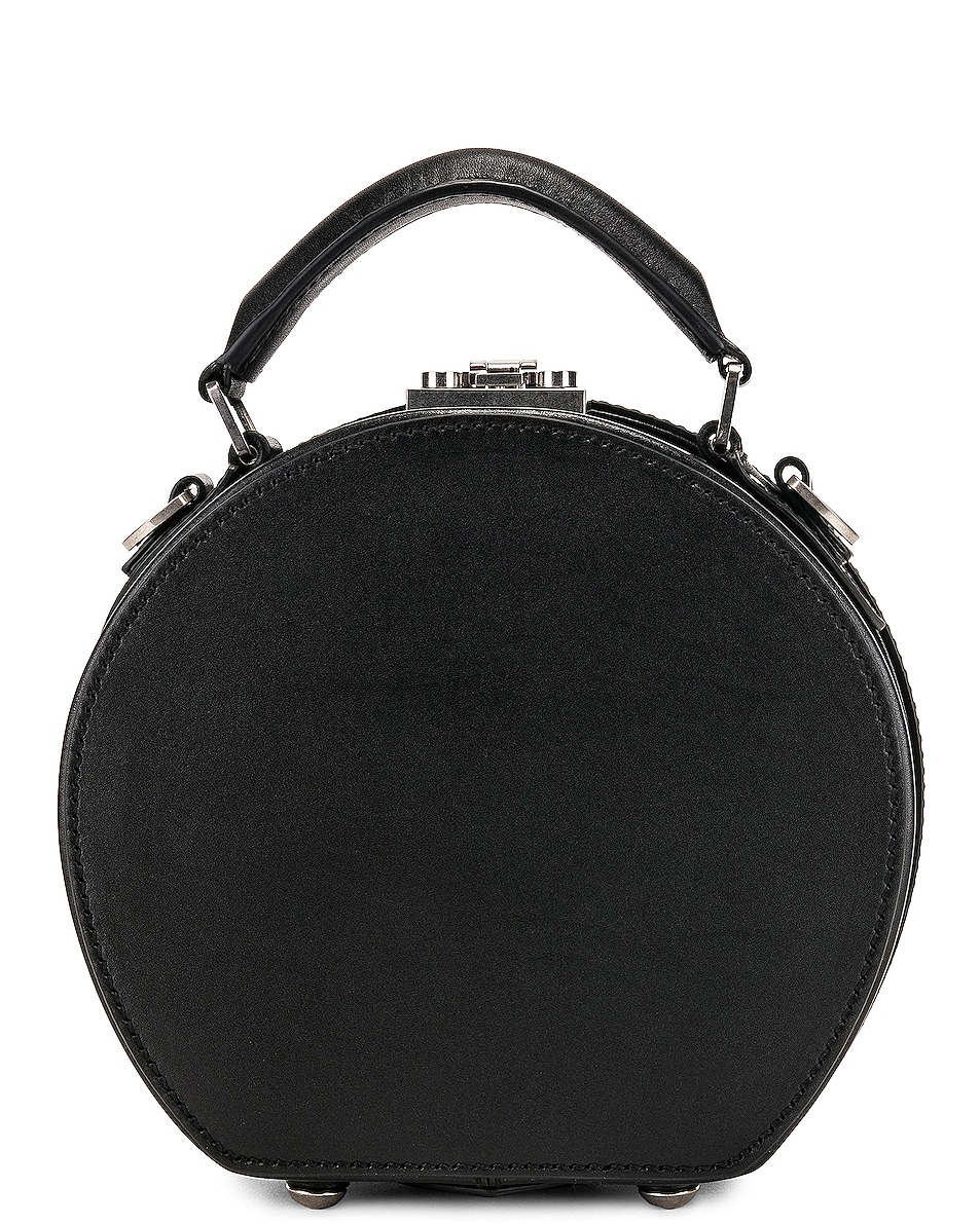 Image 3 of Saint Laurent Small Mica Hat Case in Black & Red & White
