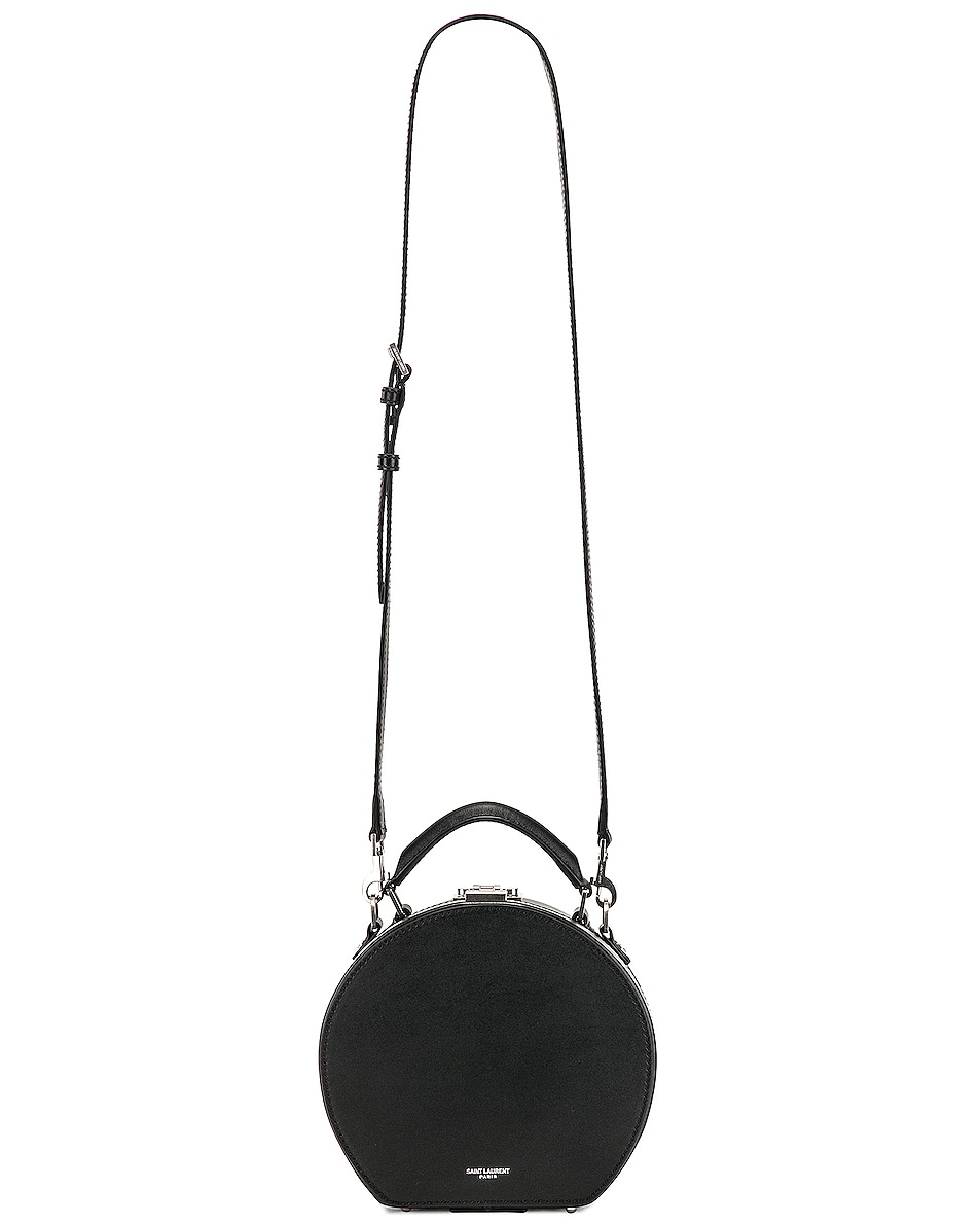 Image 6 of Saint Laurent Small Mica Hat Case in Black & Red & White