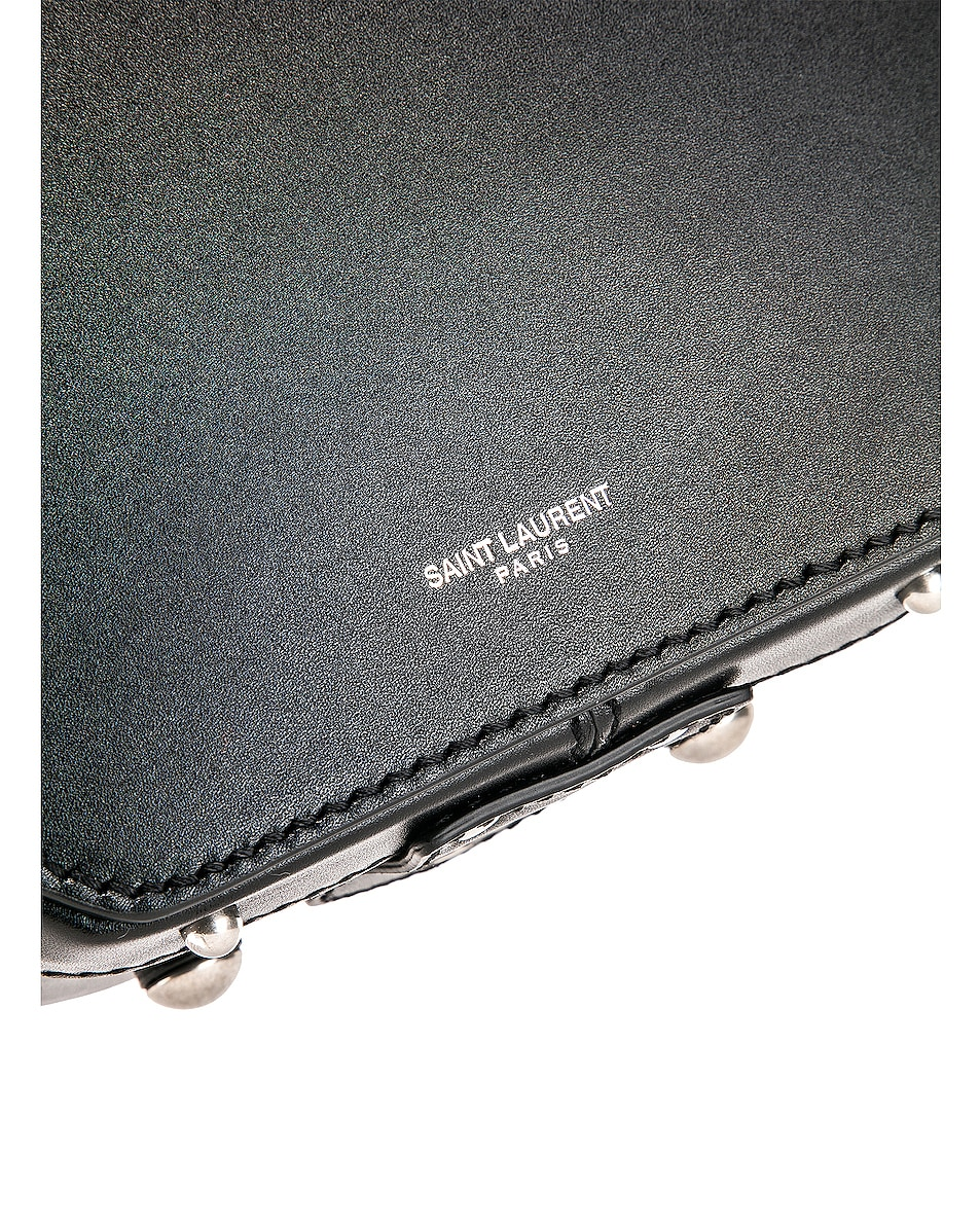 Image 7 of Saint Laurent Small Mica Hat Case in Black & Red & White
