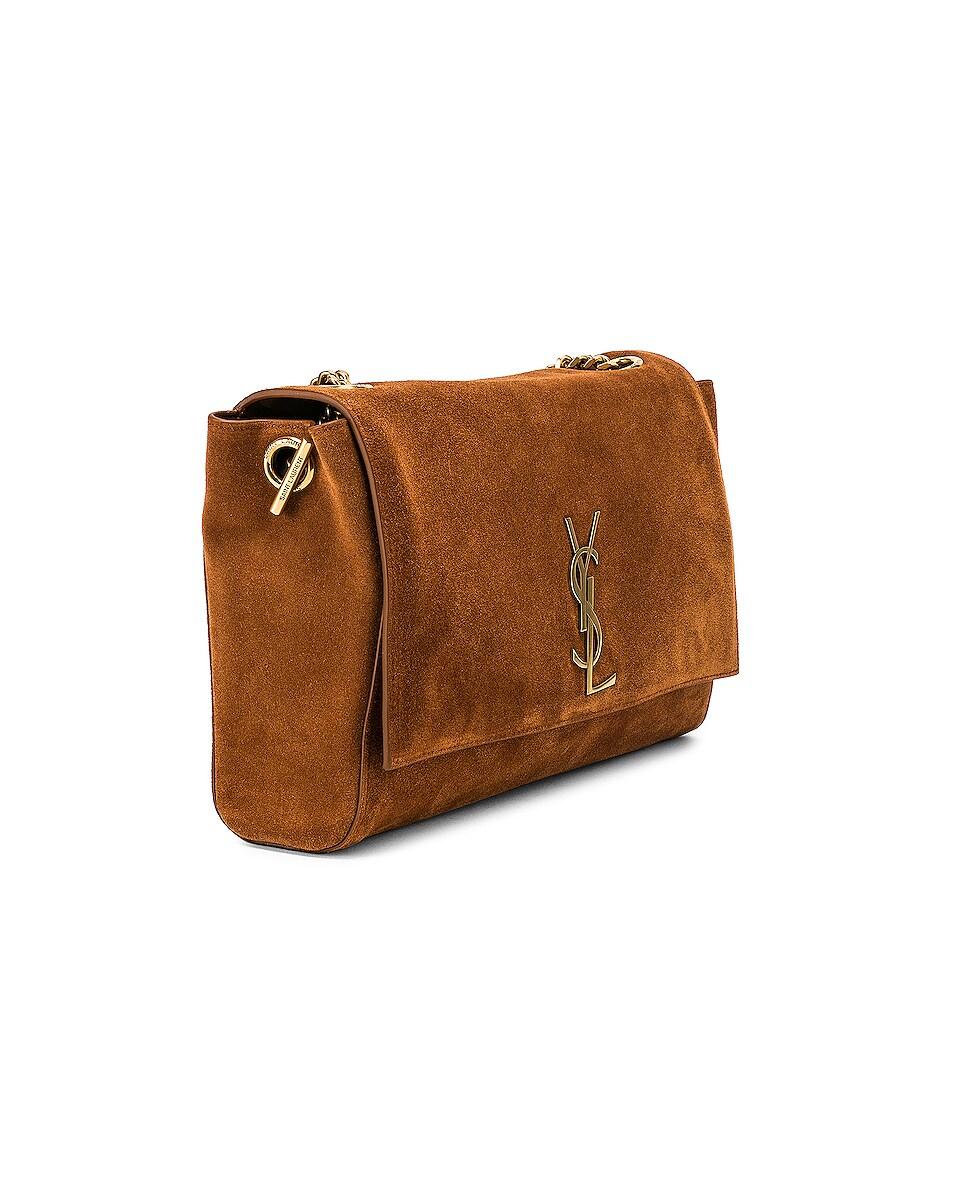 Image 5 of Saint Laurent Reversible Monogramme Kate Bag in Fauve