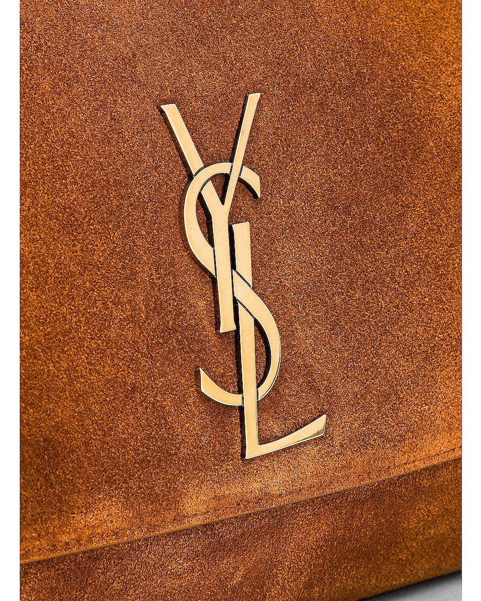 Image 8 of Saint Laurent Reversible Monogramme Kate Bag in Fauve