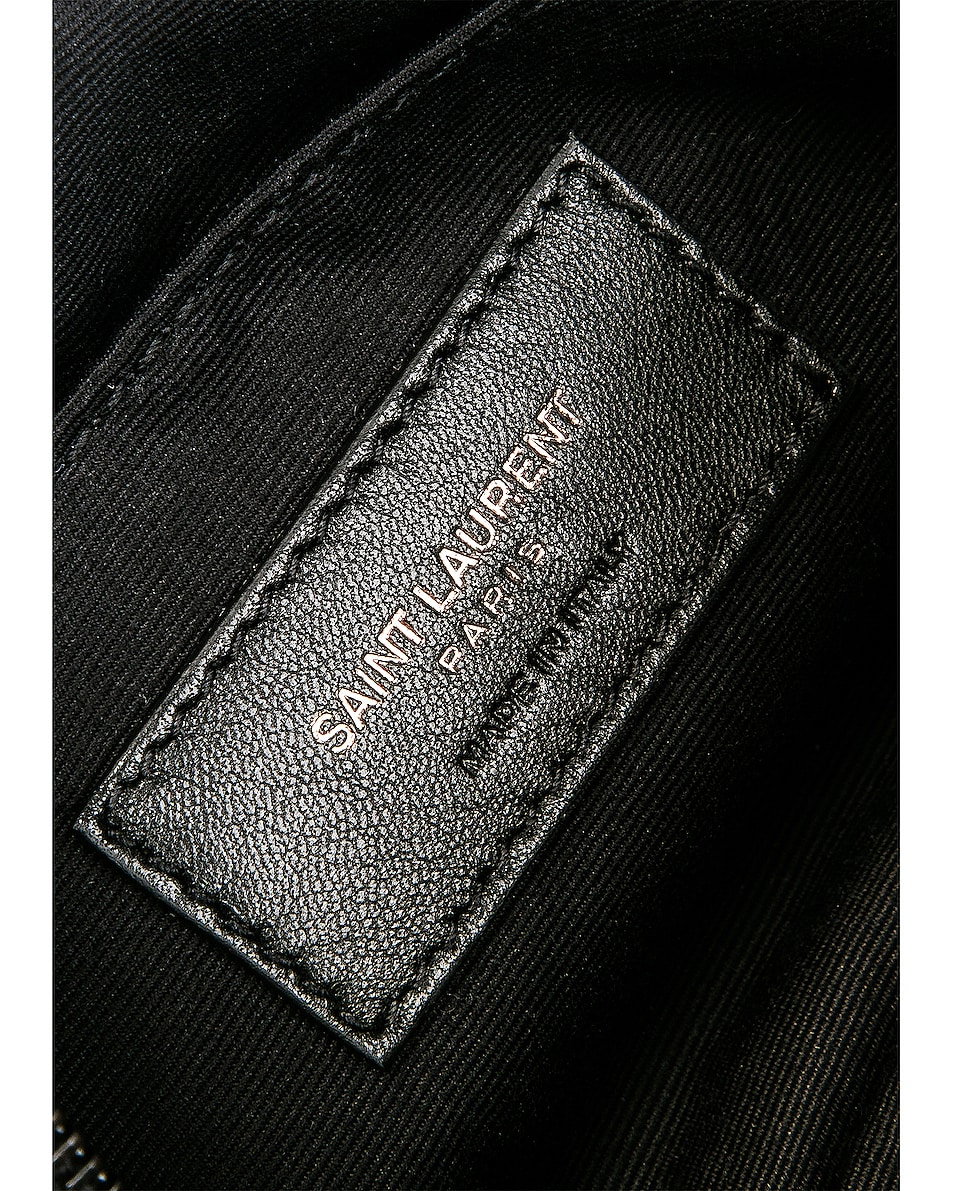 Image 6 of Saint Laurent Monogramme Lou Hip Belt with Pouch in Black