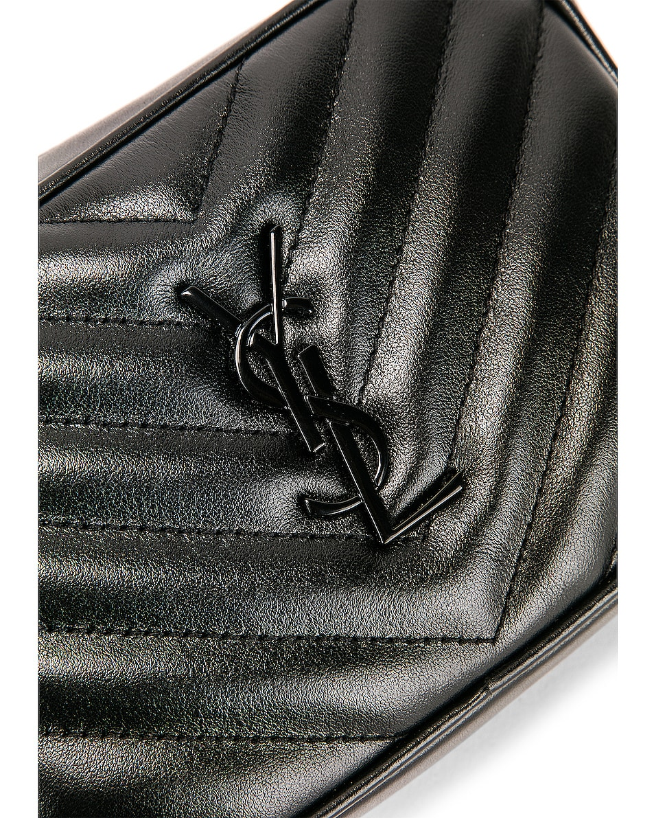 Image 7 of Saint Laurent Monogramme Lou Hip Belt with Pouch in Black