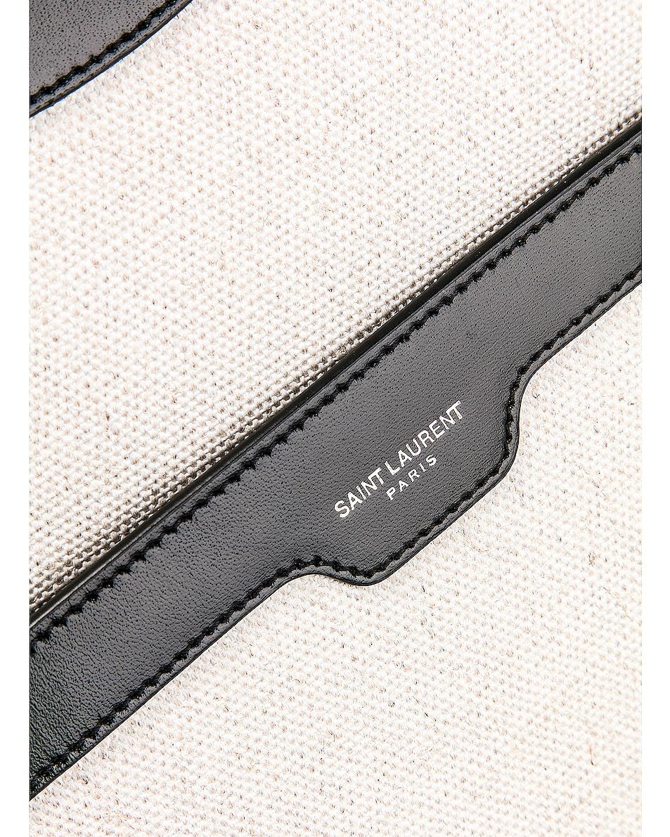 Image 7 of Saint Laurent Medium Monogramme Uptown Bag in White & Black
