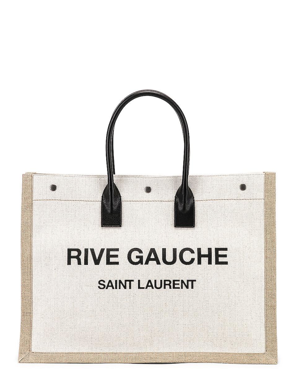 Image 1 of Saint Laurent Noe Tote Bag in White & Black
