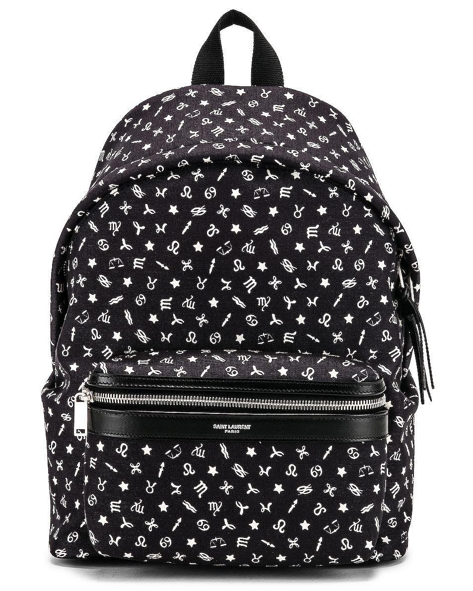 Image 1 of Saint Laurent Mini Zodiac Backpack in Black