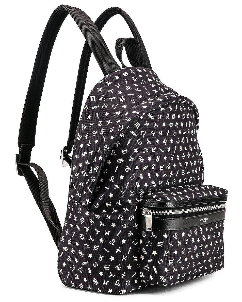 Image 4 of Saint Laurent Mini Zodiac Backpack in Black