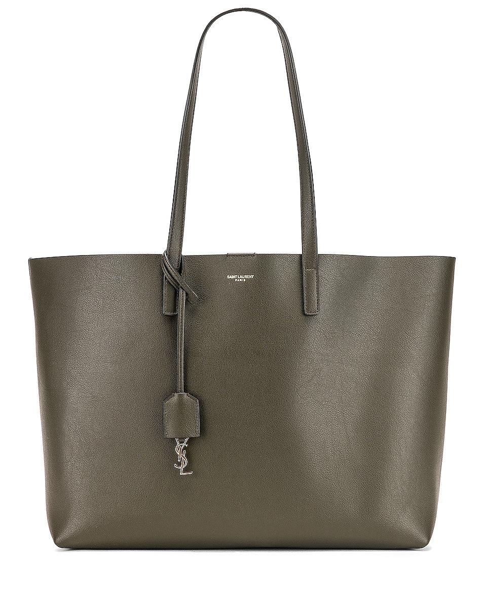 Image 1 of Saint Laurent Large East West Shopping Bag in Dark Tea