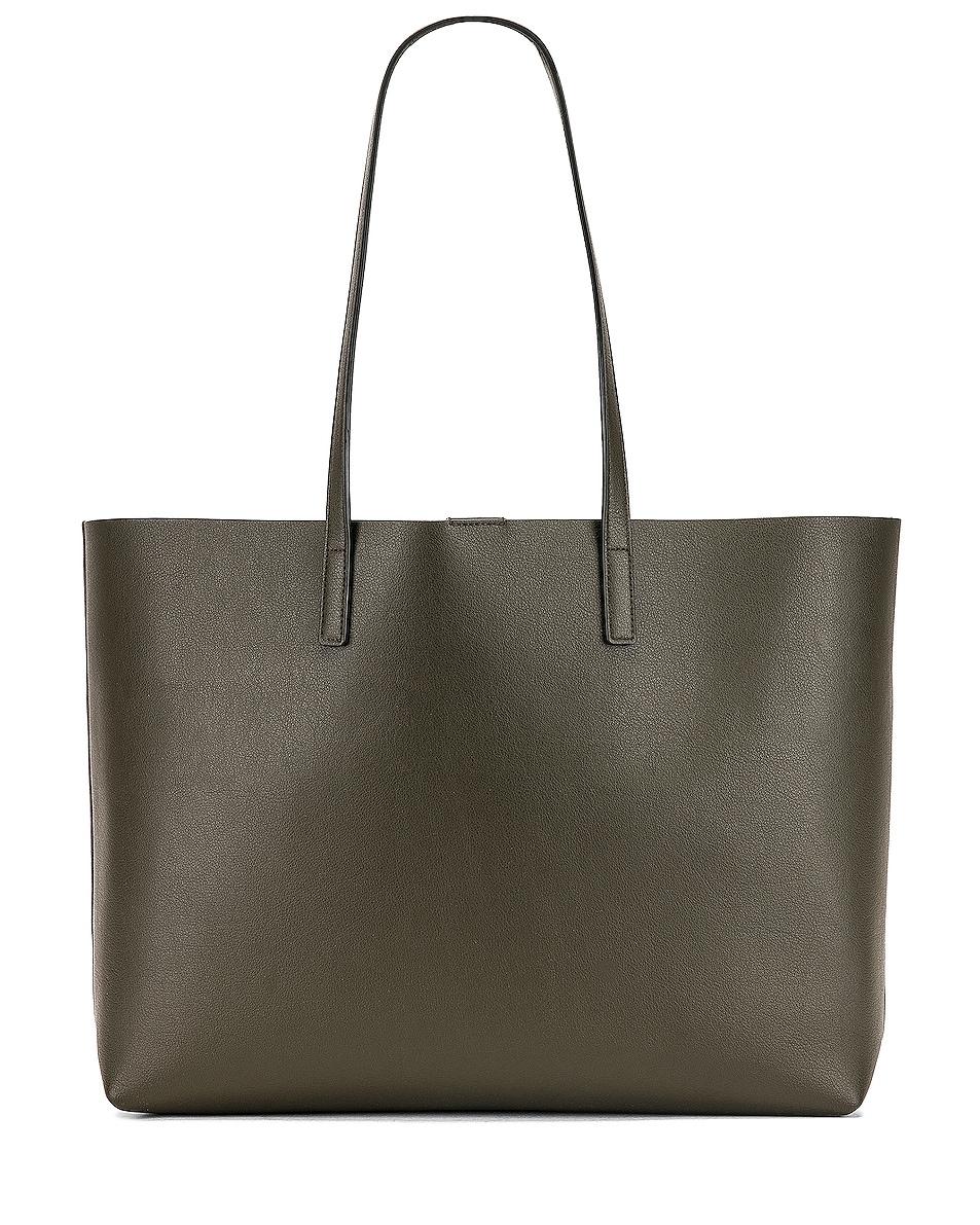 Image 3 of Saint Laurent Large East West Shopping Bag in Dark Tea