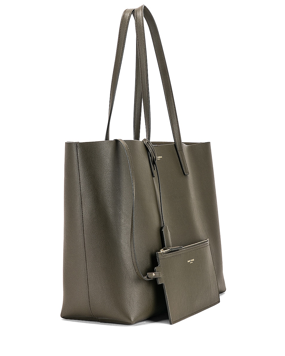 Image 4 of Saint Laurent Large East West Shopping Bag in Dark Tea