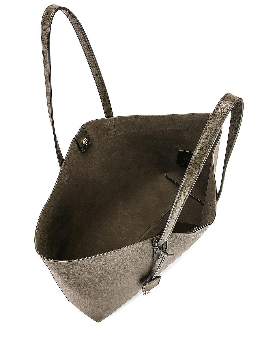 Image 5 of Saint Laurent Large East West Shopping Bag in Dark Tea