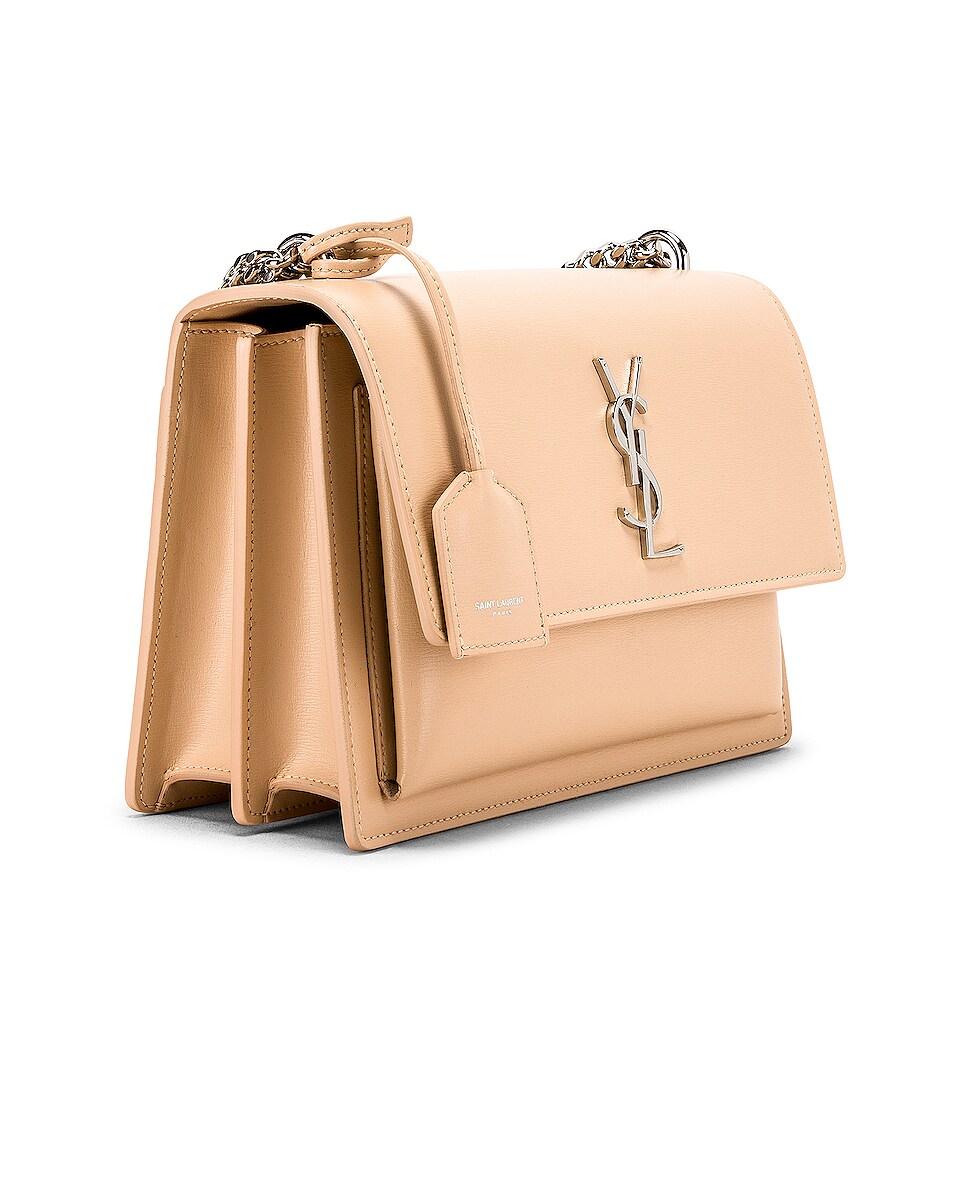 Image 4 of Saint Laurent Medium Monogramme Sunset Chain Bag in Corset
