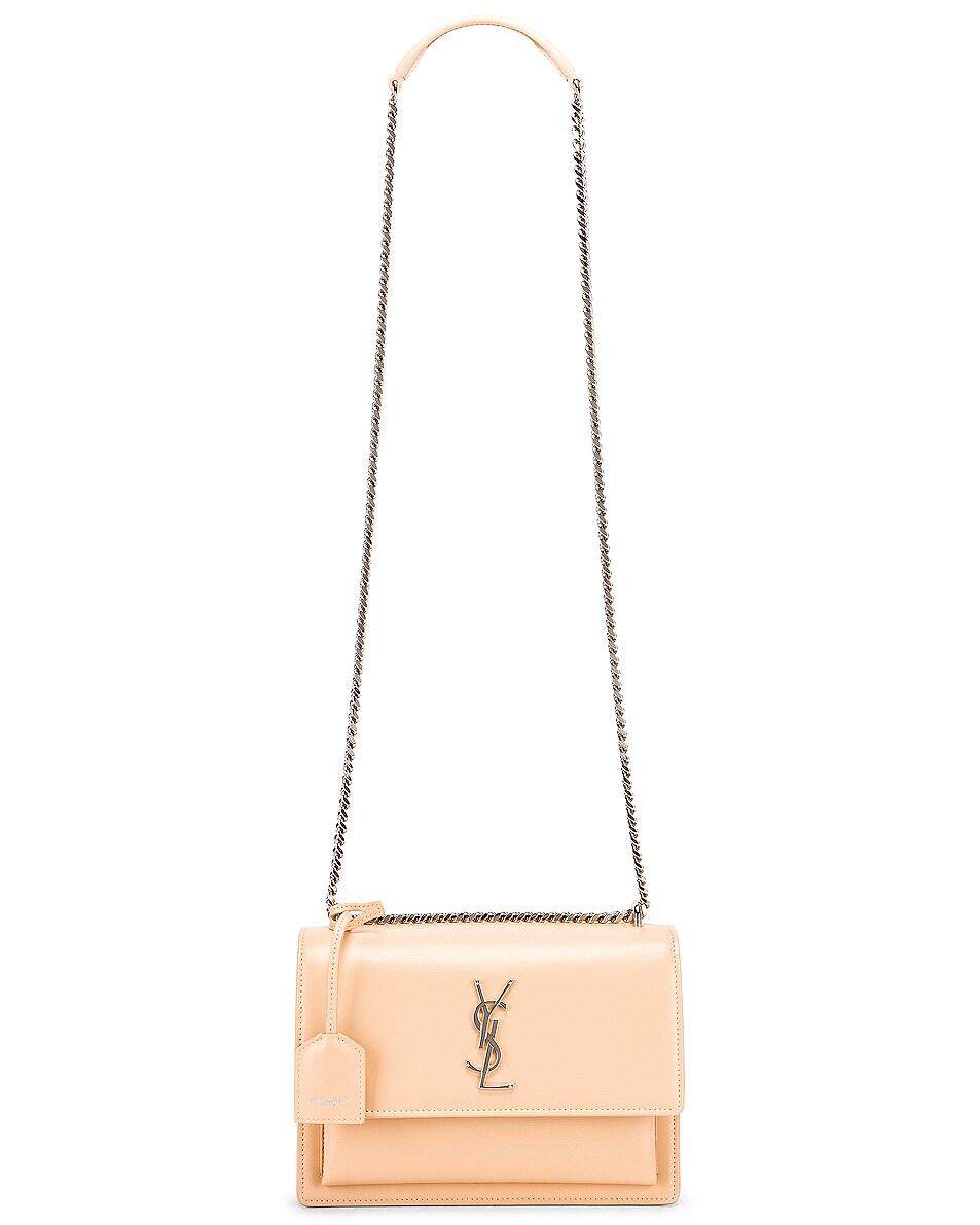 Image 6 of Saint Laurent Medium Monogramme Sunset Chain Bag in Corset