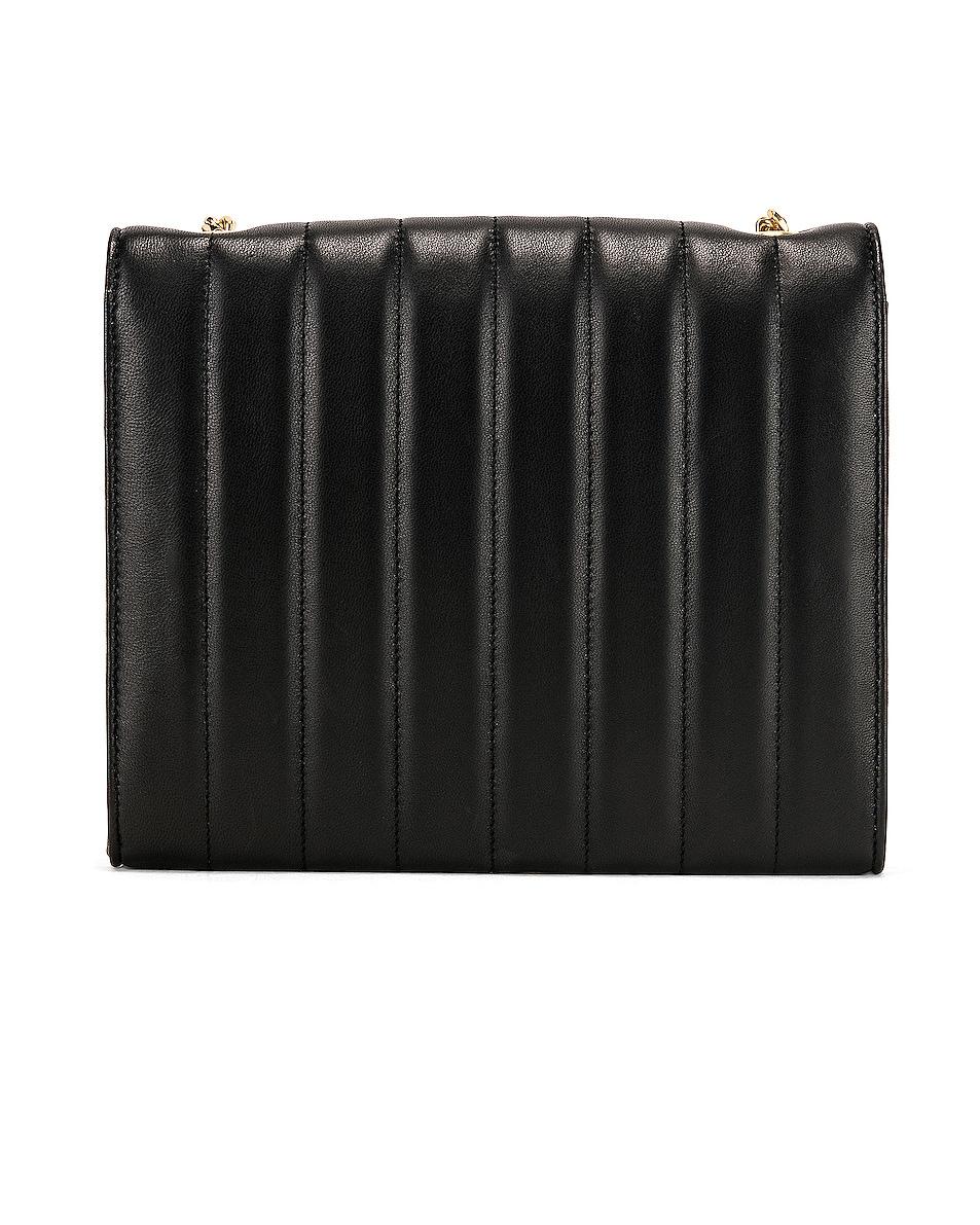 Image 3 of Saint Laurent Vicky Chain Wallet Bag in Black