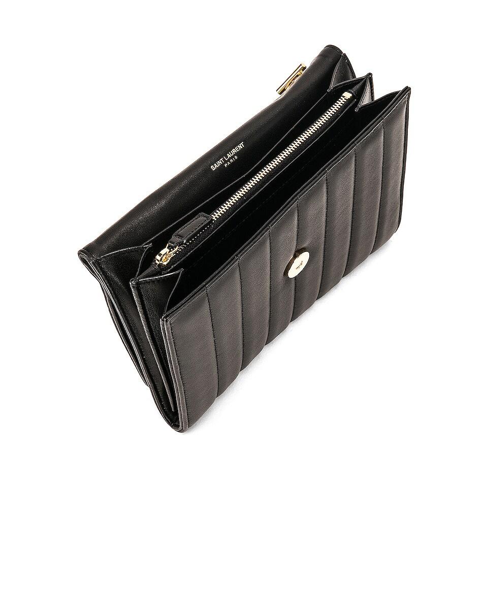 Image 5 of Saint Laurent Vicky Chain Wallet Bag in Black