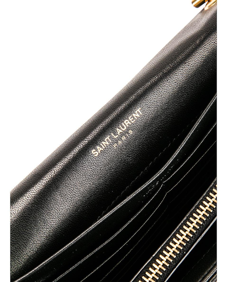 Image 7 of Saint Laurent Vicky Chain Wallet Bag in Black