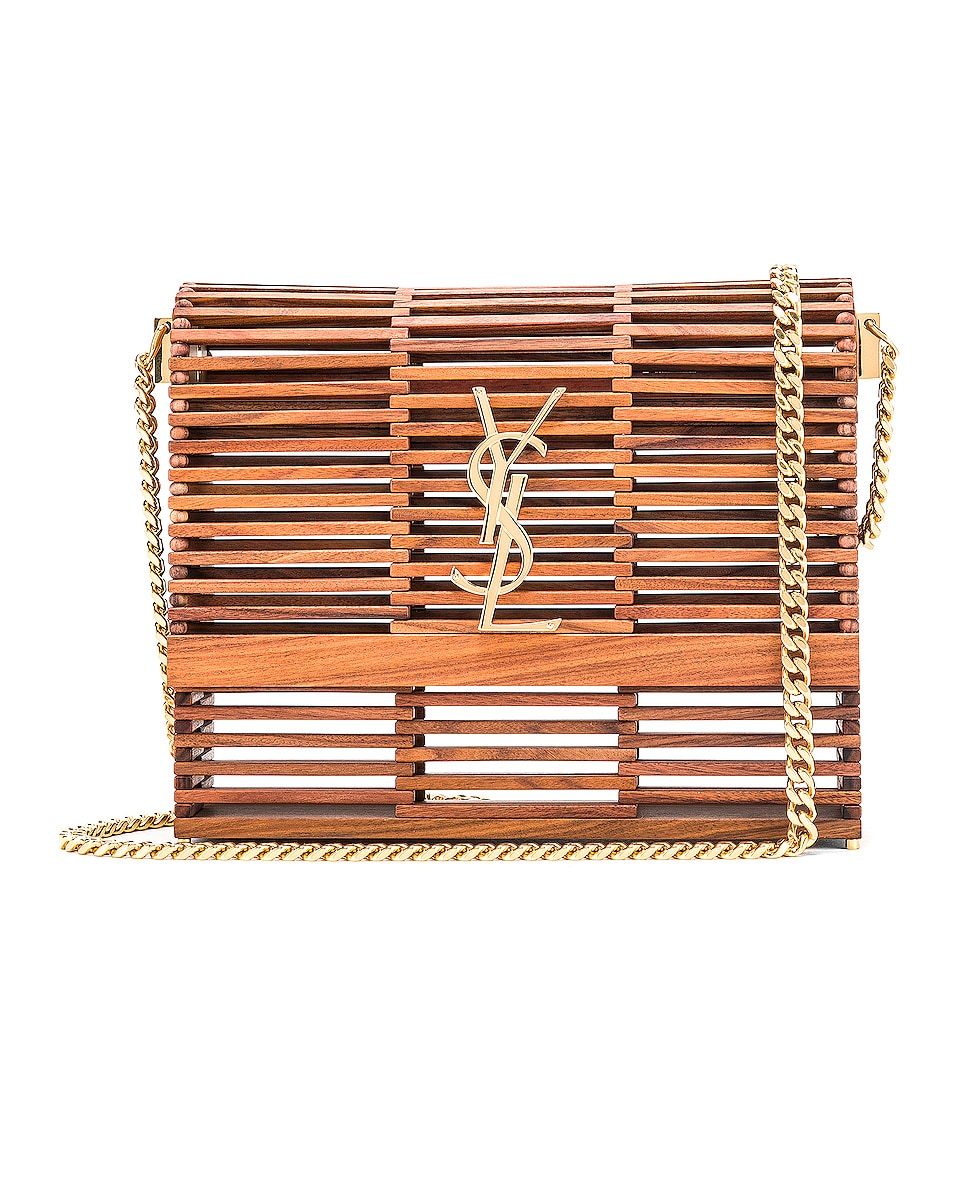 Image 1 of Saint Laurent Monogramme Kate Crossbody Bag in Palissandro Opaco