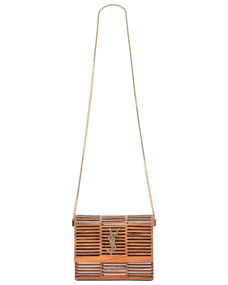 Image 6 of Saint Laurent Monogramme Kate Crossbody Bag in Palissandro Opaco
