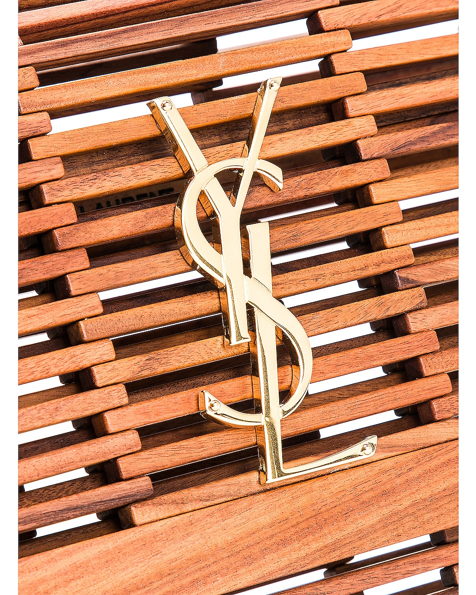 Image 8 of Saint Laurent Monogramme Kate Crossbody Bag in Palissandro Opaco